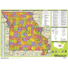 Tennessee Political Map by Missouri Political State Wall Map Rand Mcnally Store