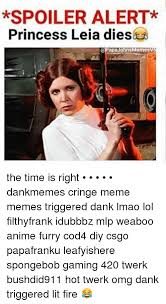 Princess Leia Meme - spoiler alert princess leia diesla apa johns memes the time is