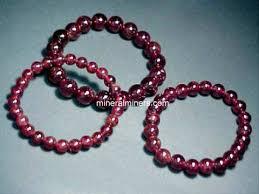 garnet bracelet images Round bead almandine red garnet bracelet almj138x jpg
