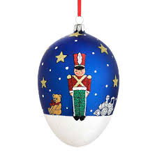 2015 reed barton soldier egg glass blown ornament