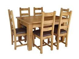solid oak extending dining table 4 oak chairs