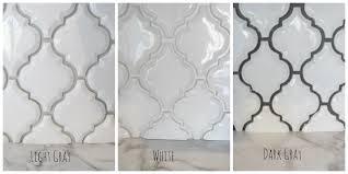 grout kitchen backsplash arabesque white tile with grey grout search kitchen