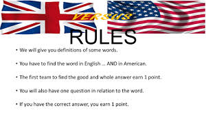 Usa Flag Rules Versus English Words And American Word Some Words Are Different
