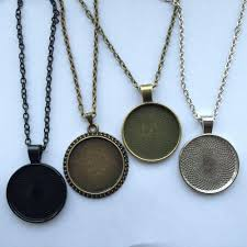 glass necklace pendants wholesale images Blessed is she bible verse glass cabochon pendant necklace shop jpg