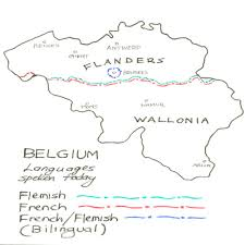 belgium language map maps