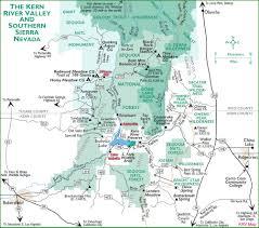 Nevada Map Sierra Nevada Map Navigation Map