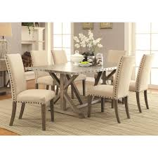 likable stunning dining room interior with five pieces metale wood