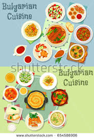 set cuisine bulgarian cuisine healthy food icon set เวกเตอร สต อก 654586906