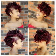 women u0027s burgundy messy curly pixie short hairstyle