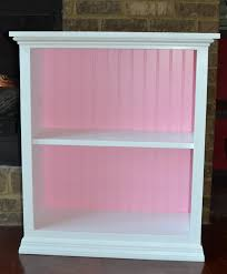 hand painted 100 wood two shelf bookcase white with a light
