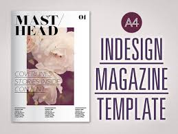 magazine indesign template a4 fully editable customisable