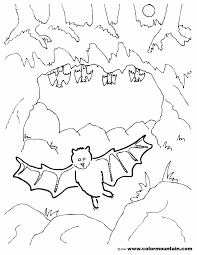 Bat Template Halloween by Color Halloween Bat Realistic Bats To Color Fruit Coloring Pages
