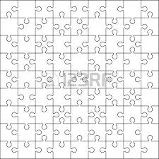 100 jigsaw puzzle blank template or cutting guidelines royalty