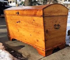 c 1725 antique blanket chest colonial immigrant chest dome trunk