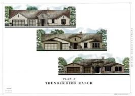 custom home floor plans thunderbird trails front elevation plan 3