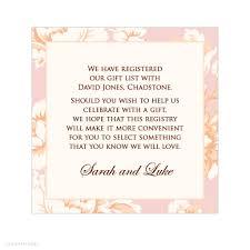 cool wedding registries wedding invitations creative wording for registry on wedding