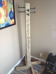 how to build a coat tree coat rack out of scrap railroad spikes