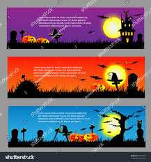 halloween banner background ticket card vector stock vector