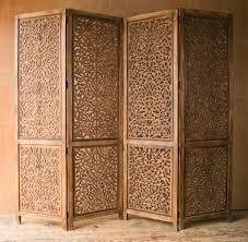 carved wooden indian screen 77 5