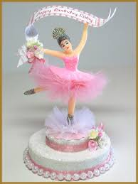 ballerina cake topper birthday minish designs