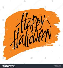 happy halloween calligraphy halloween banner halloween stock