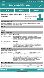resume pdf maker cv builder android apps on google play