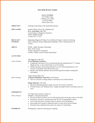 Resume Example College by Advertising Intern Resume Samples Internship Resume Example
