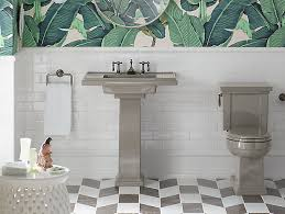 Kohler Pedestal Bathroom Sinks - k 2845 8 tresham 30 inch pedestal sink with 8 inch widespread