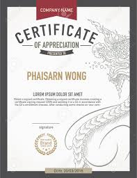 modern thai art certificate design template royalty free cliparts