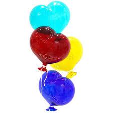 heart shaped balloons heart shaped balloons in murano glass muranonet online store