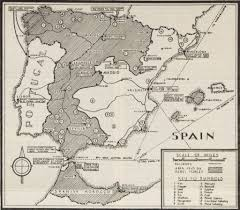 Map Of Spain And Morocco by Spanish Civil War Maps Modern Records Centre University Of Warwick