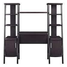altra espresso ladder bookcase towers with desk 9807096