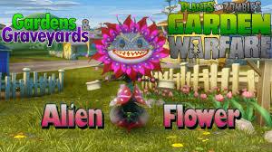 plants vs zombies garden warfare alien flower gameplay with