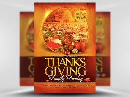 thanksgiving funday flyer template flyerheroes