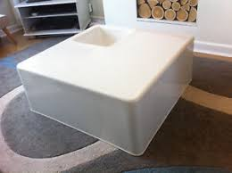 white plastic coffee table vintage seventies design plastic coffee table white fiberglass pop