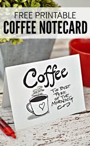 coffee note cards digital printable stationery sets