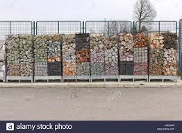 big selection of stones for home and garden decoration stock photo