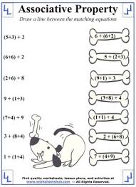 associative property of addition worksheet 5 addition properties