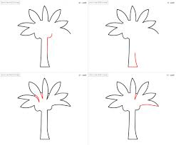 easy palm tree drawing how to draw palm tree for kids step step