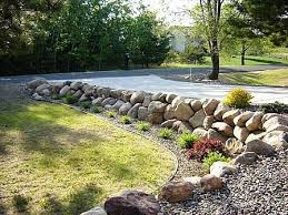 how to build a boulder rock retaining wall rock retaining wall