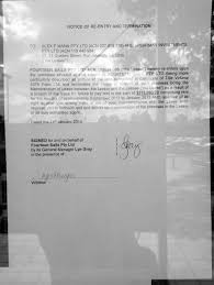 What Is A Notice Of Termination by File Manns Mitre 10 Notice Of Re Entry And Termination Jpg