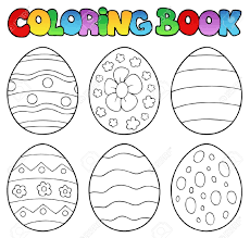 Coloring Eggs Coloring Book With Easter Eggs Royalty Free Cliparts Vectors And