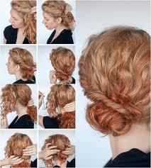 Frisuren Lange Haare Knoten by Seitenpartei Zwirbeln Und Hinten Im Chignon Stecken Haare