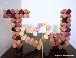 diy wine cork letters and heart piglicious