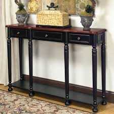narrow console table for hallway furniture nice black accent narrow console table ideas for hallway