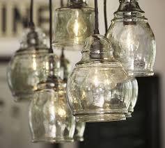 Seeded Glass Pendant Light Paxton Glass 8 Light Pendant Pottery Barn