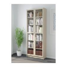 Deep Billy Bookcase Billy Bookcase With Glass Doors Dark Blue Ikea