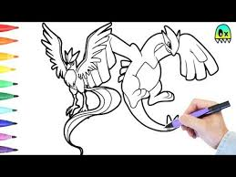 pokemon coloring pages lugia pokemon coloring pages lugia and articuno colouring book fun youtube