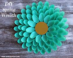 springtime wreaths springtime wreath diy spring spoon wreath anneopinion crafts