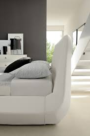 Exotic Platform Beds by Diamante Contemporary White Leather Platform Bed Made In Italy